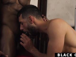 Blowjob/with behind god hung black