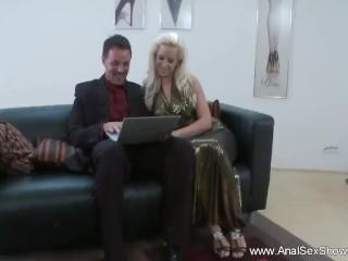 Sexy Blonde Loves Rough Ass Fucking