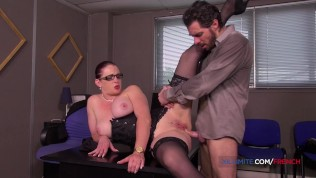 Big boobs secretary with glasses