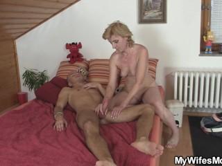 Sexy Blonde Woman Pleases Kinky StepSon