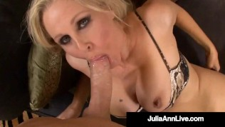 Busty Sex Bomb Cougar Julia Ann Takes A Cock In Her Juicy Mature Muff!