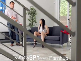 NANNYSPY Guilty Nanny Caught & Fucked By Boss