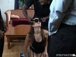 Private Black - White Cracker Amber Rayne Takes An Orgy Full Of Black Cock!