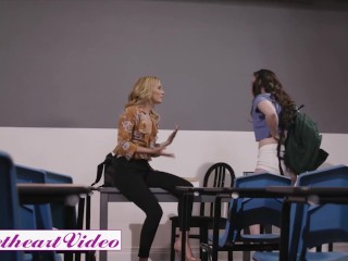 Sweetheart Video - Blonde milf tries strapon on stepdaughter