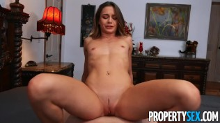 PropertySex Hot real estate agent thanks client with blowjob and sex