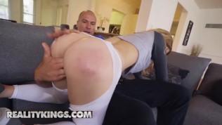 Reality Kings - step sister Abby Adams loves yoga and big dick