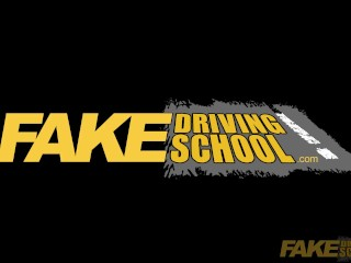 Fake Driving School Chloe Lamour gets her big boobs out