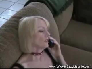 Blonde/mature/rough fuck for happy granny