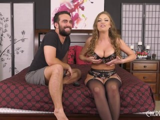 Big Tits Britney Amber Gets Fucked Out Of Her Lingerie in Live Show