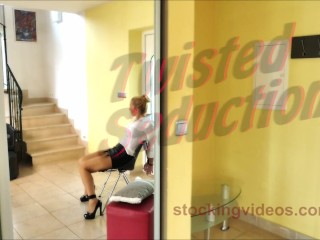 StockingVideos - Twisted Sex with Mistress Victoria and Tied up Mandy