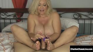 Busty Handjob Hottie Charlee Chase Jacks You Off & Milks Your Hard Cock!