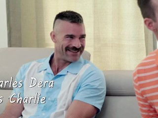two men and an xxx show - charlie charms his way into a hot threesome