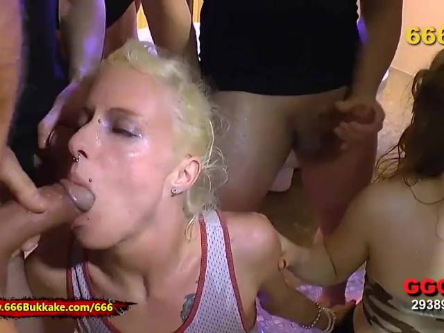 Extreme Pissing Action and Cum for Two Young Curious Babes - 666bukkake