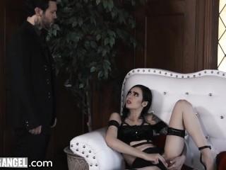 Goth Anal Whore Marley Brinx Rough DP Fuck-BurningAngel