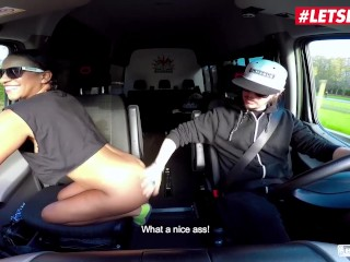 LETSDOEIT - Big Booty Honey Oiled and Fucked In The SEX Bus