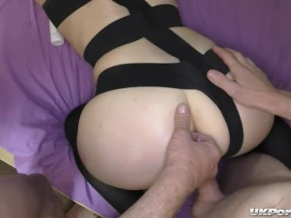 Sexy English sluts Jamie and Bree get fucked in a gangbang party
