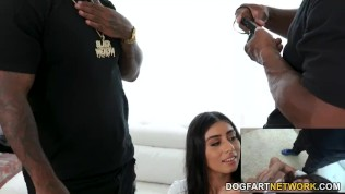 Busty Latina Violet Myers Offers Her Pussy To Random Black Dudes