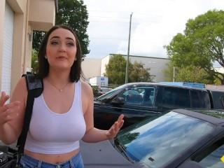 Roadside - Big Tits Teen Fucking The Car Mechanic
