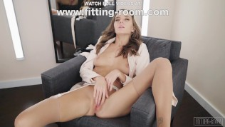 Stockings Fetishist Katya Clover Masturbates in a fitting room