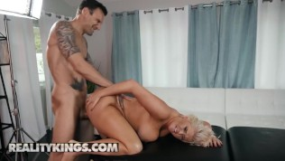 Reality Kings - Chubby big tit phat ass Karissa Shannon gets oiled up