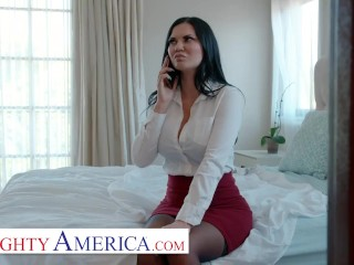 naughty america - jasmine jae gets banged by her husband's boss