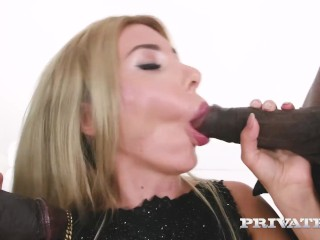 PRIVATE com - Double Dark Dicked Marilyn Kristal Does 2 Big Black Cocks!