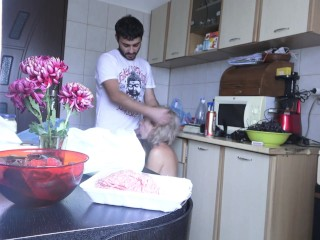 House wife has to stop her cooking for husband – Used milf !
