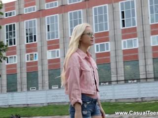 casual teen sex - nikki hill - blonde teen wet casual fuck
