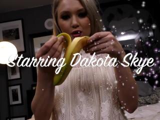 Dakota Skye Banana Eater Sperm Swallower loves sucking & fucking hard POV!!