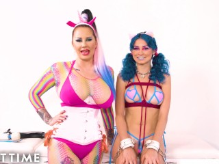 Bubblegum Dungeon: Lesbian Mistress Dominates -ADULT TIME