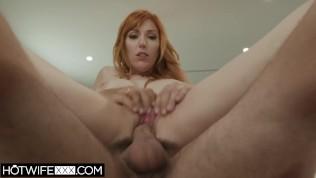 Big Tit Redhead Shared Hot Wife Lauren Phillips Sucks Cock