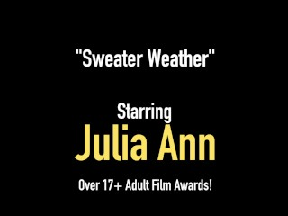 Busty Beautiful Cougar Julia Ann Finger Bangs Her Hot Wet Juicy Pussy!