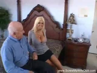 Husband Shares His Blonde Slut Wife
