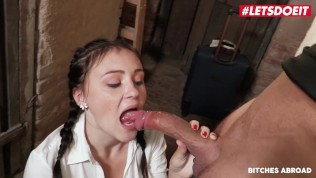 Bitches Abroad – Hot Teen With Big Tits Rough SEX With Big Cock – LETSDOEIT