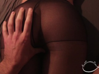 Sexy girlfriend rips pantyhose and gets fucked - FuckForeverEver
