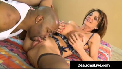 Cougar Airline Attendant Deauxma Fucks A Big Black Cock In Her