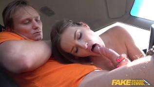 Fake Driving School brunette Jenifer Jane fucks her instructor