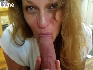 Cock Sucking Bad Girl Daizy Deepthroats and Swallows all of Daddys Cock!