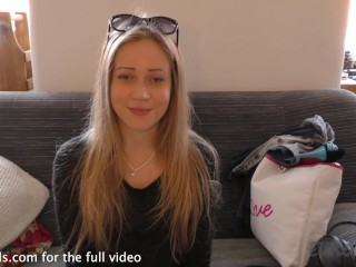 bubbly hot blonde doing her first ever nude shoot porno casting couch