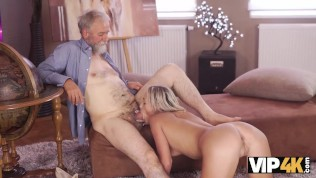 vip4k. old man is happy to enjoy tender hot body of young