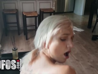 MOFOS – Erotic Pigtailed girlfriend Eliza Jane chokes on penis in pov blowjob