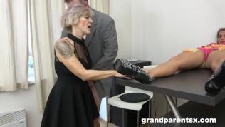 Hungry Seniors Fuck Appetizing Teen