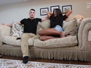 popular big dick stud has mixed girl begging for more of his hot white meat
