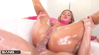 BANG Surprise – Hot Big Tits MILF Oiled And Fucked Rough