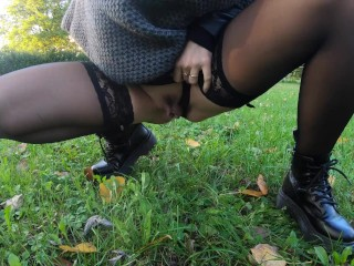 Public/amateur/her perfect cold fuck outdoor