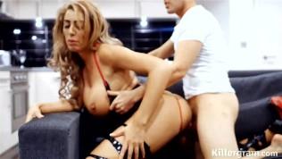 Killergram Ava Koxxx dressed in sexy lingerie in hardcore hotel fuck