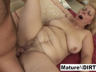 Granny wakes him up for an anal fuck