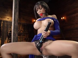 first timer gia milana gets bound and banged by machines