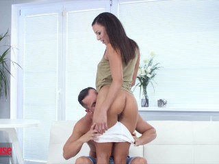 DogHouse - Bubble butt brunette gets anal creampied