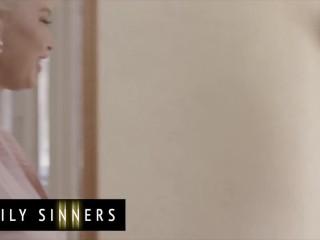 Family Sinners - Busty milf step mom seduces big dick step son